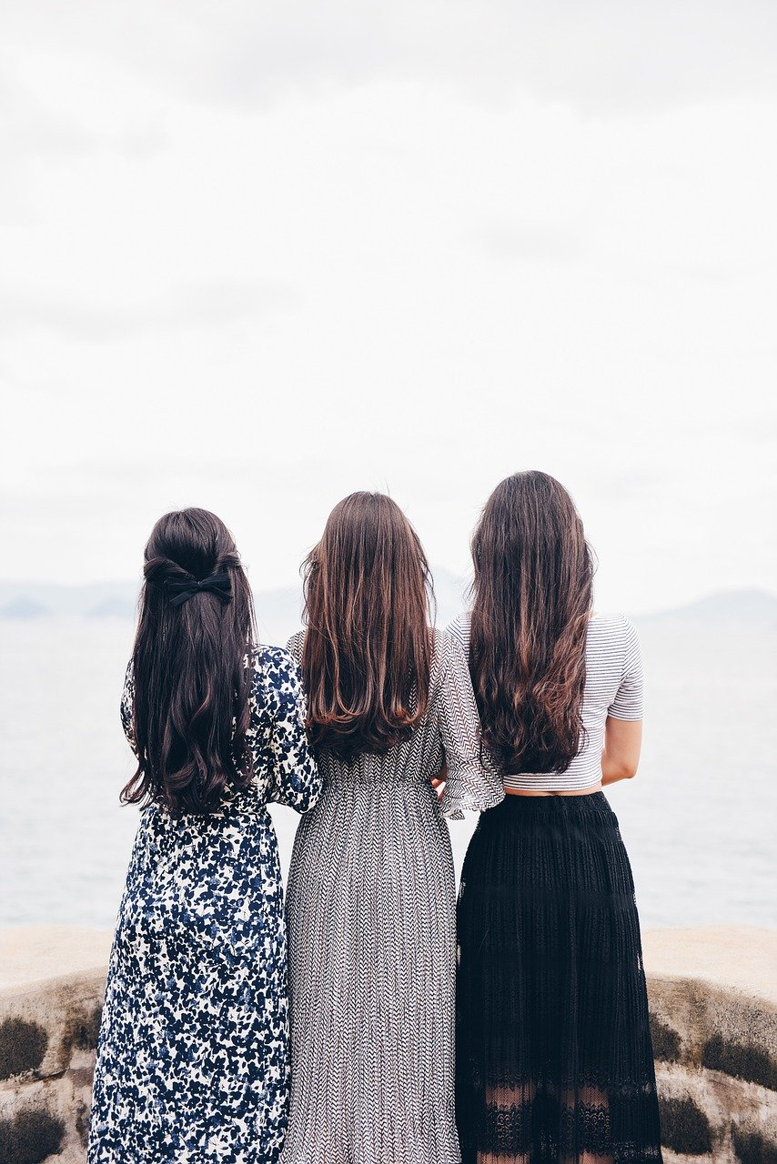 women, back, fashion